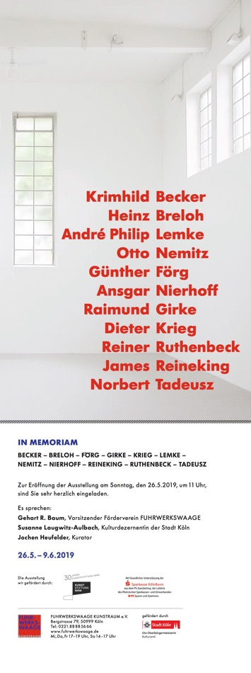 Group Exhibition: IN MEMORIAN - InMemoriam_WebEinladung