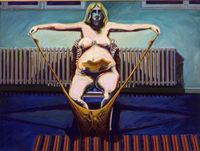 1970 02 05 Sakralraum Mona schwanger Öl auf Leinwand 150x200 cm