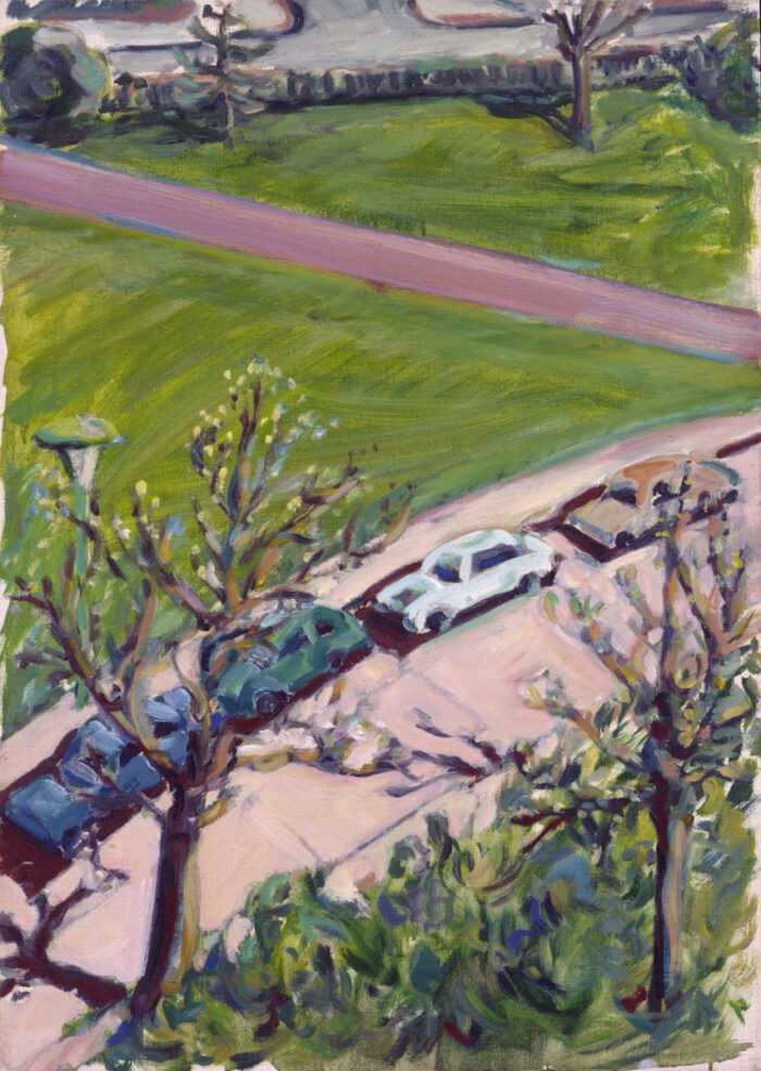 1970 07 02 Autos Öl auf Leinwand 70x50 cm