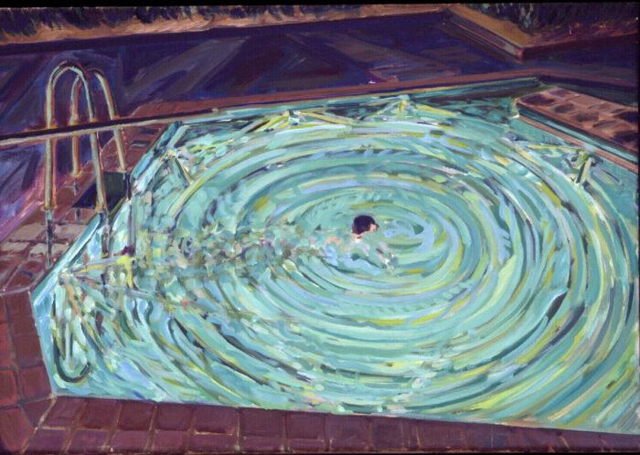 1970 11 01 Swimmingpool Öl auf Leinwand 66x95 cm