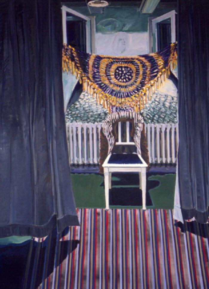 1970 12 01 Sakral Raum II Öl auf Leinwand 200x150 cm