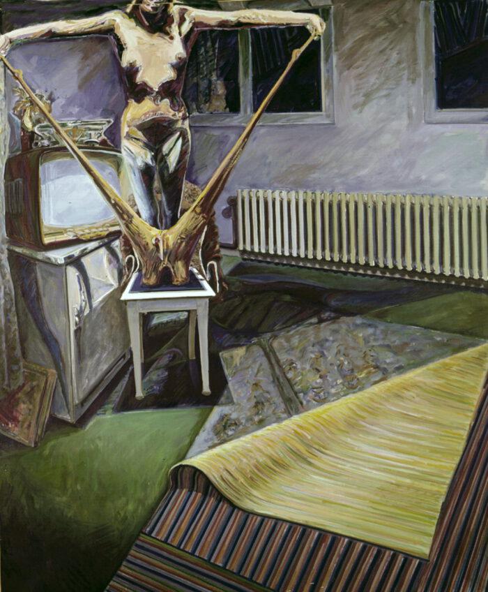 1971 01 05 Sakral Raum Öl auf Leinwand 200x170 cm