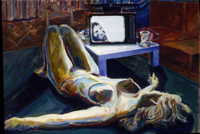 1971 02 04 Fernsehen Berlin Öl auf Leinwand 70x100 cm