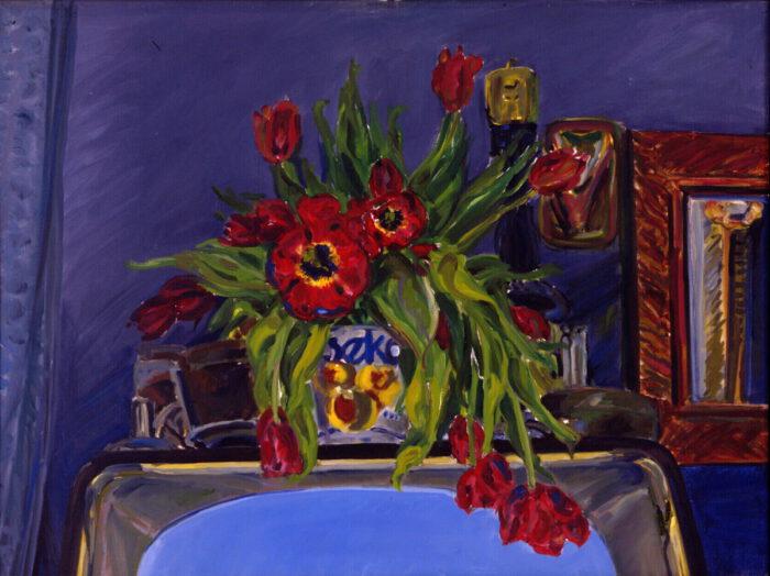 1971 03 01 Blumen Öl auf Leinwand 60x80 cm