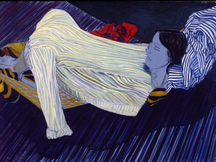 1971 05 01 Blaue M. Öl auf Leinwand 95x130 cm