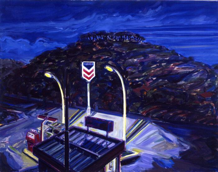 1971 08 02 Tankstelle Öl auf Leinwand 80x100 cm