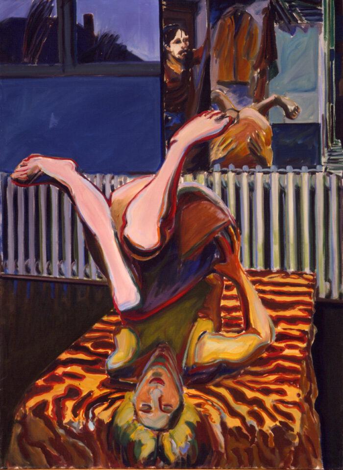 1972 01 09 o.T. Öl auf Leinwand 135x100 cm