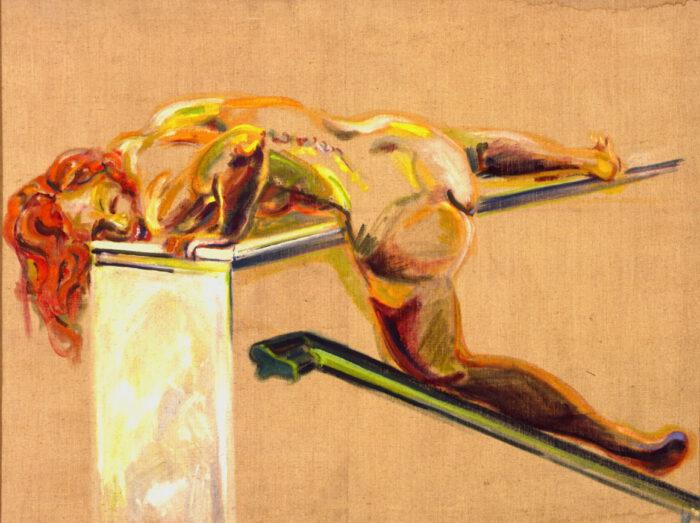 1972 01 13 Schreiende Frau II Öl auf Leinwand 100x130 cm