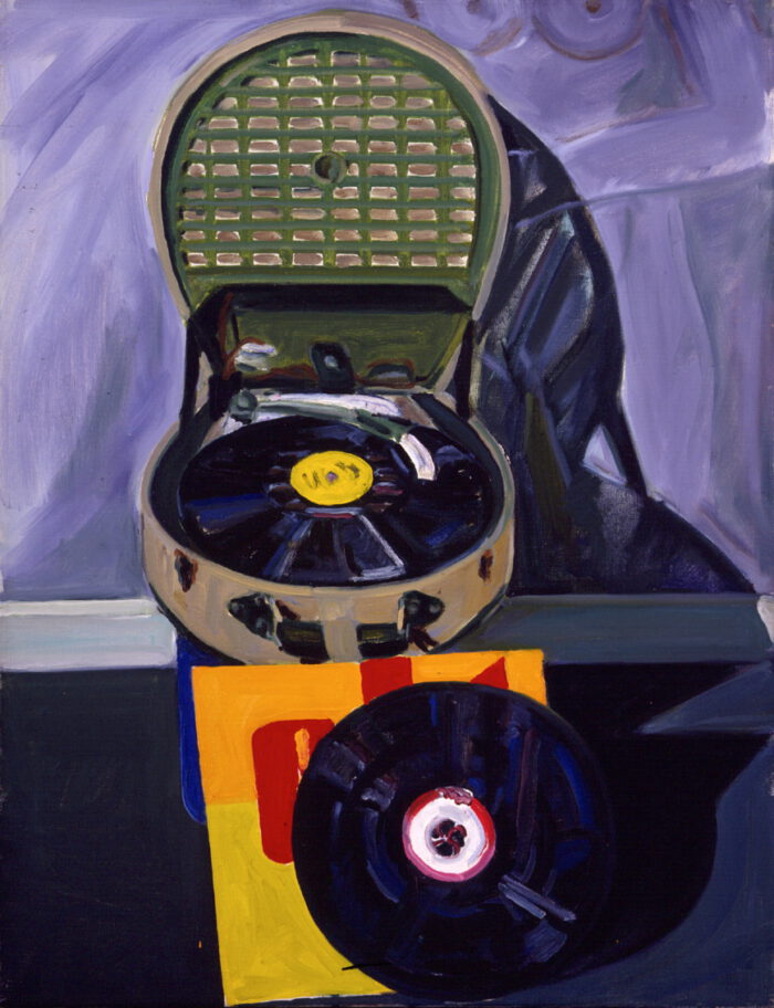 1972 04 01 Schallplattenapperat Öl auf Leinwand 70x54 cm