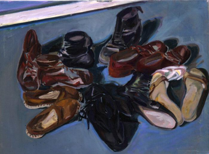 1972 06 01 Schuhe Öl auf Leinwand 60x80 cm