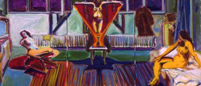1972 07 01 o.T. Öl auf Leinwand 40x95 cm