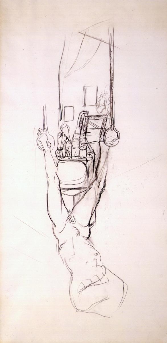 1973 01 05 Heidi Kohle auf Leinwand 315x157 cm