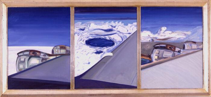 1973 06 01 Fliegen Ein Traum Öl auf Leinwand 80x180 cm