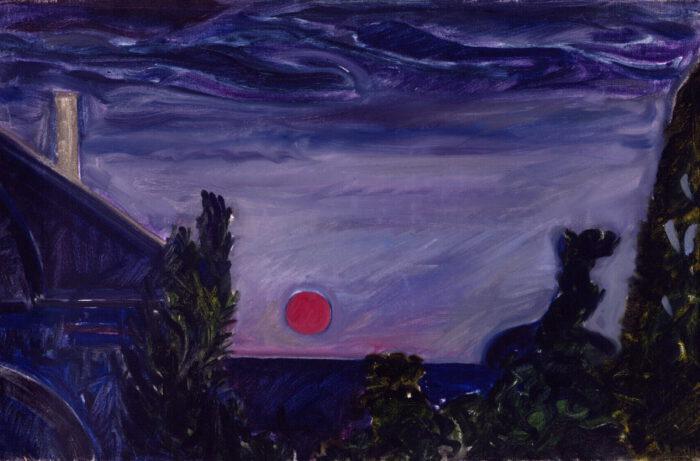 1973 08 01 Rote Sonne 2 Öl auf Leinwand 45x685 cm