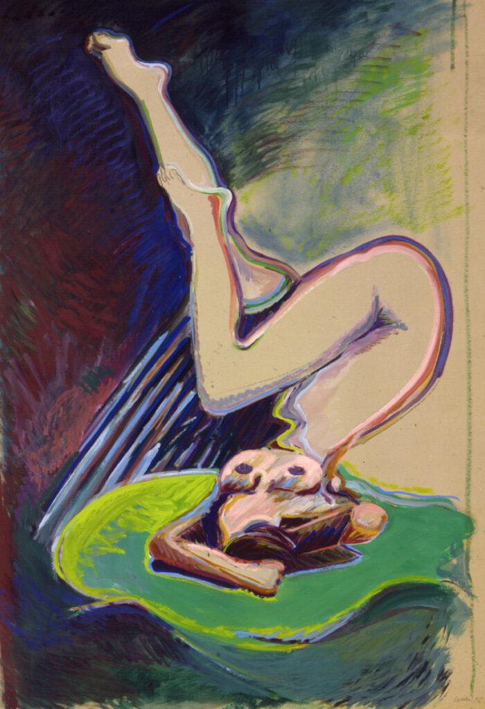 1973 09 01 o.T. Öl Papier auf Leinwand 165x114 cm