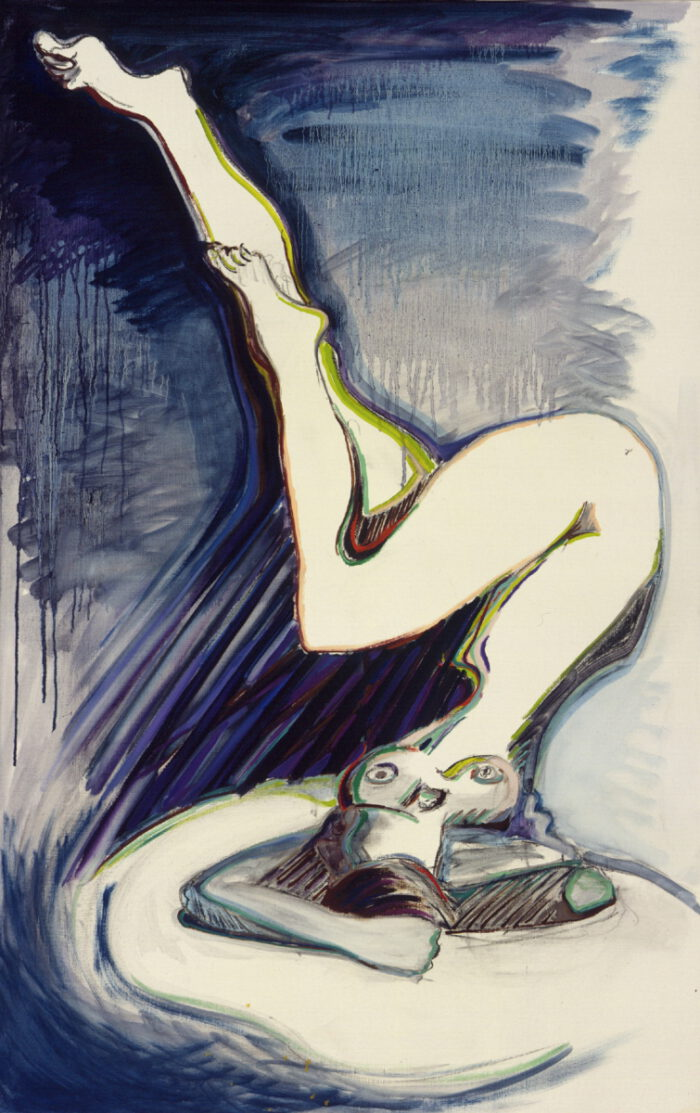 1973 09 02 Reg Butlers Frau Kohle Öl auf Leinwand 140x91 cm