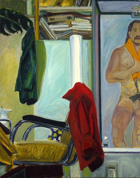 1973 12 01 Selbst im Spiegel Öl auf Leinwand 100x80 1