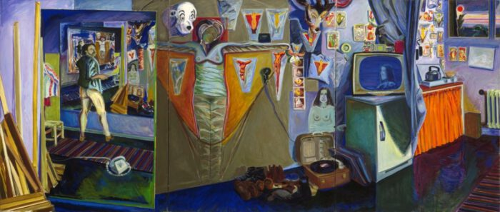 1973 14 01 Triptychon 3 teilig Öl auf Leinwand165x375cm