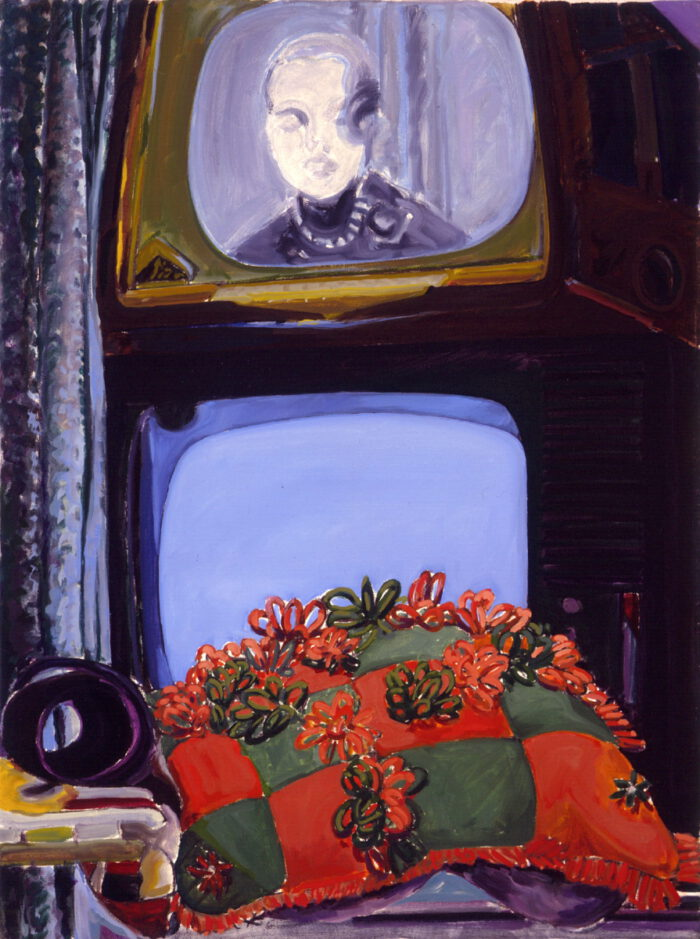 1974 04 02 Tv Kissen Öl auf Leinwand 80x60 cm