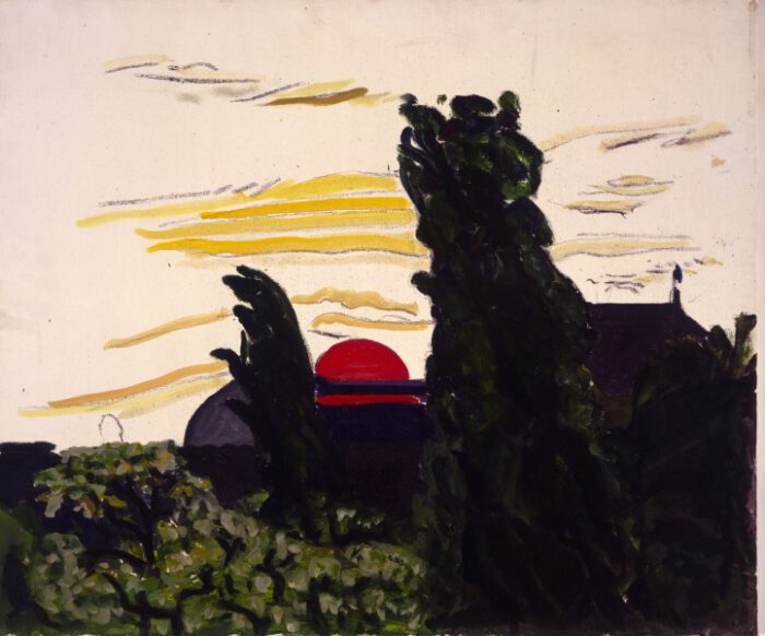 1974 06 01 Rote Sonne 3 Öl auf Leinwand 50x60 1