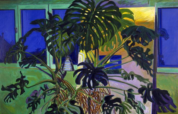 1974 07 01 Philodendron Öl auf Leinwand 140x200 cm