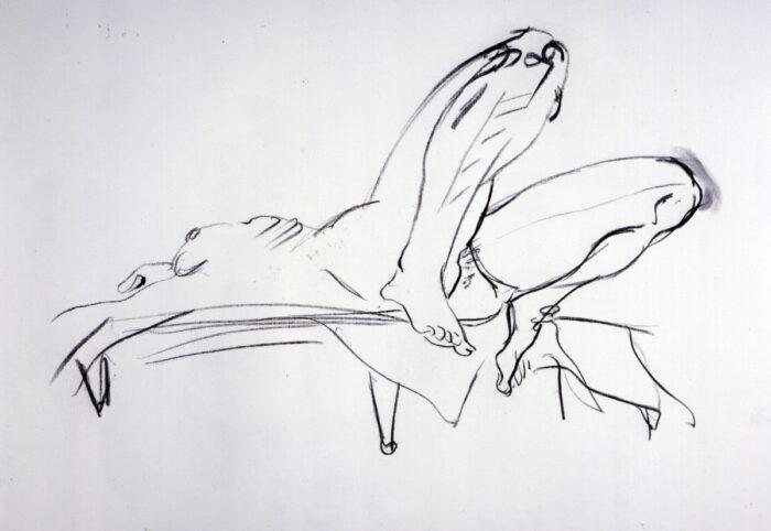 1975 01 04 Hagedorn Kohle auf Leinwand 105x135 cm