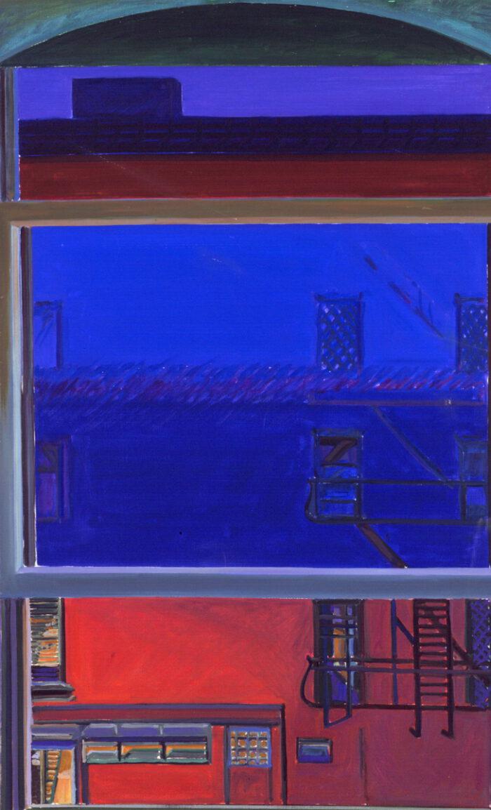 1975 02 01 New York 13th Street I Öl auf Leinwand 130x80 cm