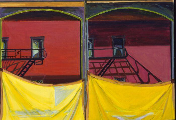 1975 02 03 NY Doppelbild Öl auf Leinwand 70x100 1
