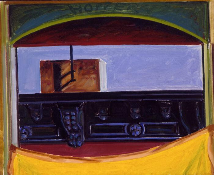 1975 02 04 Hopper N.Y. Öl auf Leinwand 50x60 cm