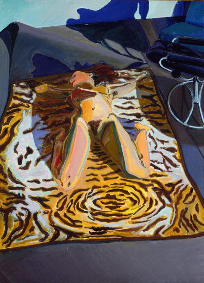 1975 07 11 Tiger Hagedorn Öl auf Leinwand 191x140 cm