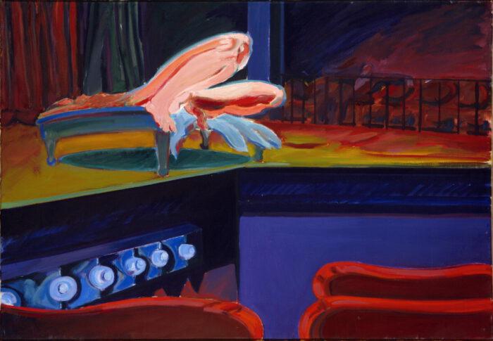 1975 08 01 Broadway Burleske I Öl auf Leinwand 70x100 cm