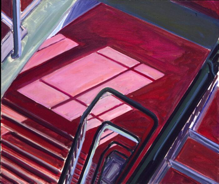 1975 12 02 Treppenhaus Öl auf Leinwand 60x70 cm