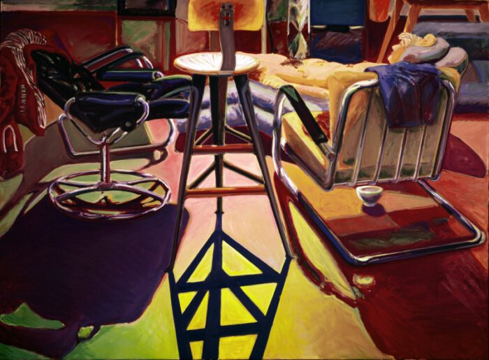 1976 02 02 Atelier Drehhocker Öl auf Leinwand 150x200 1
