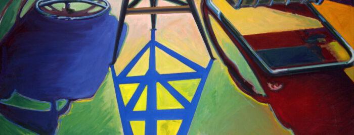 1976 02 03 Blauer Schatten Öl auf Leinwand 100x150 cm