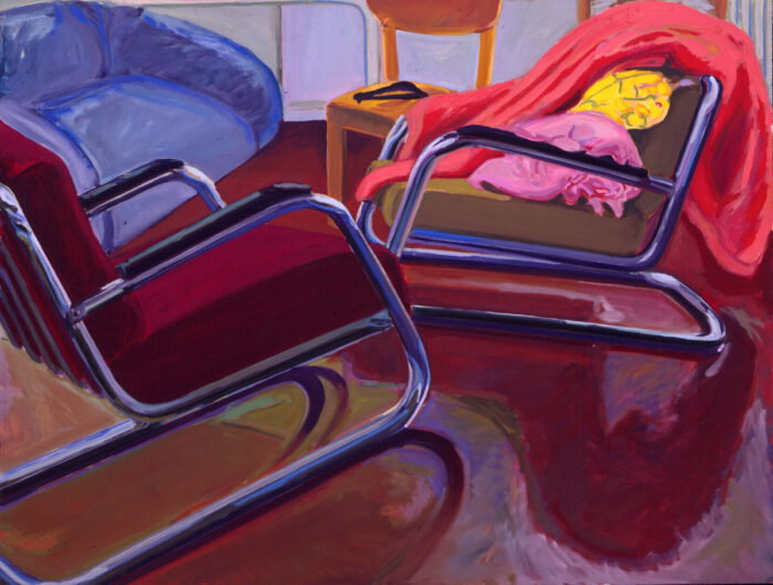 1976 06 01 2 Sessel Öl auf Leinwand 100x130 cm