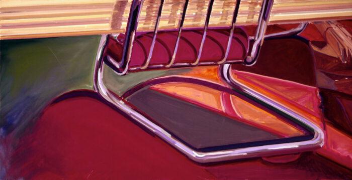 1976 06 02 Sessel und Leisten Öl auf Leinwand 70x140 cm