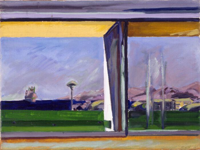 1977 02 04 Seeblick 3 Öl auf Leinwand 30x40 cm