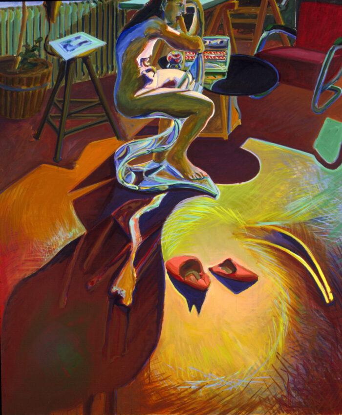 1977 03 02 Strudel und Pantoffel Öl auf Leinwand 200x170 cm