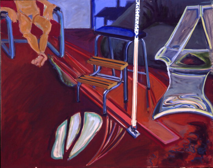 1977 03 12 Atelier Öl auf Leinwand 60x80 cm