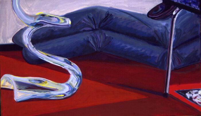 1977 03 14 Liege Plexi Öl auf Leinwand 60x100 cm