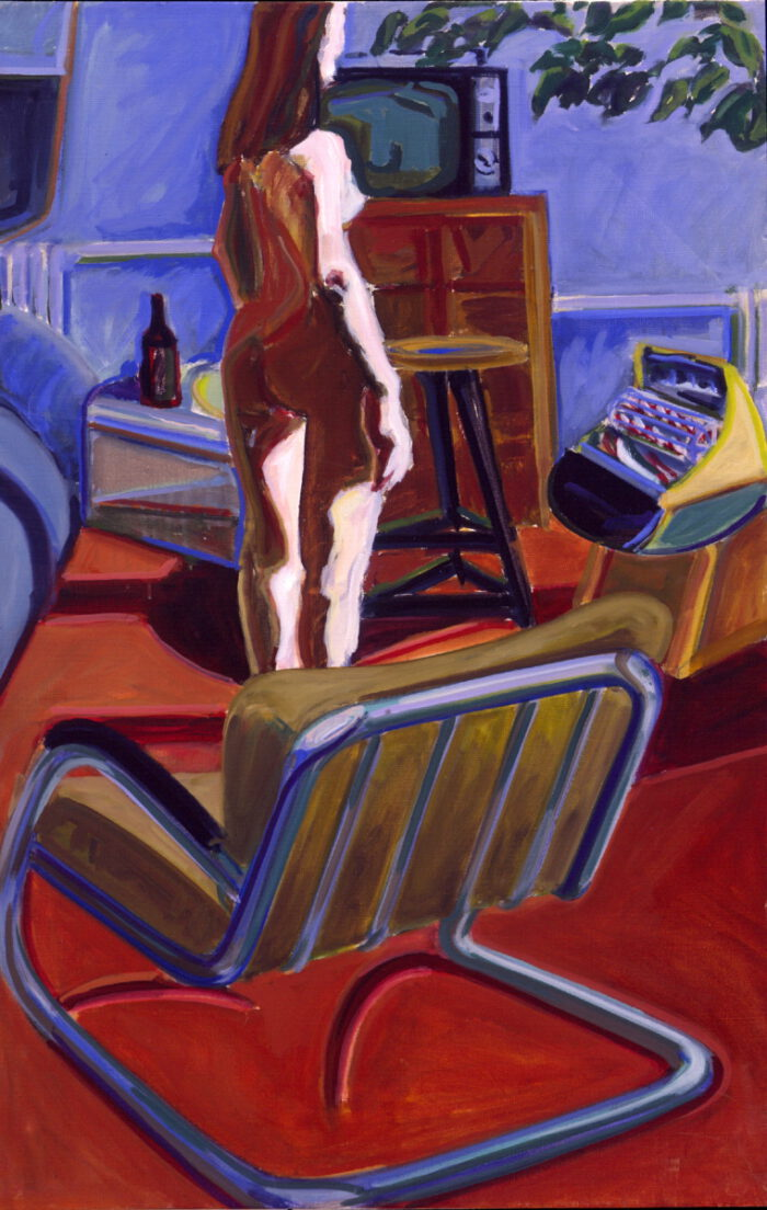1977 05 03 Akt Heizsonne Atelier Öl auf Leinwand 100x65 cm