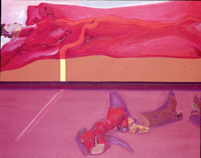 1977 10 01 Bett mit Licht Martha Öl auf Leinwand 150x200 cm