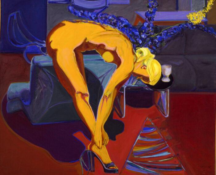 1978 01 03 Hohe Schuhe Elke Öl auf Leinwand 133x160 cm