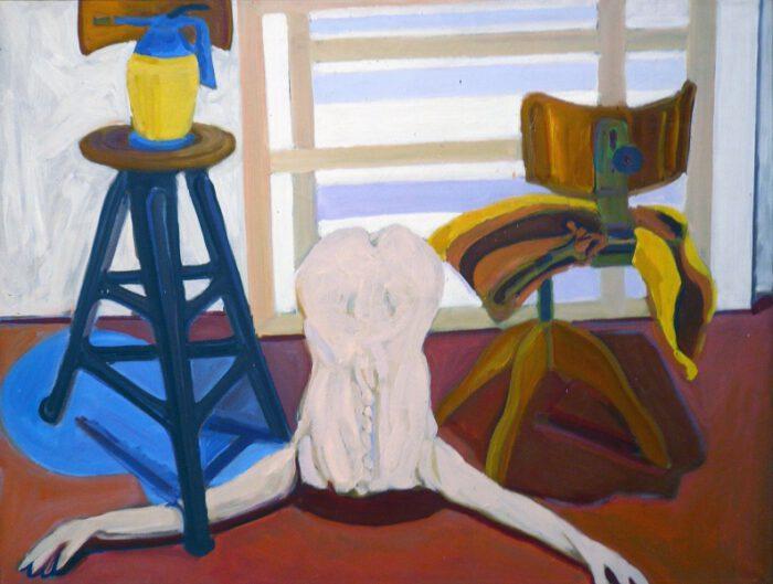 1978 03 10 Heller Rücken Stühle Öl auf Leinwand 60x80 1