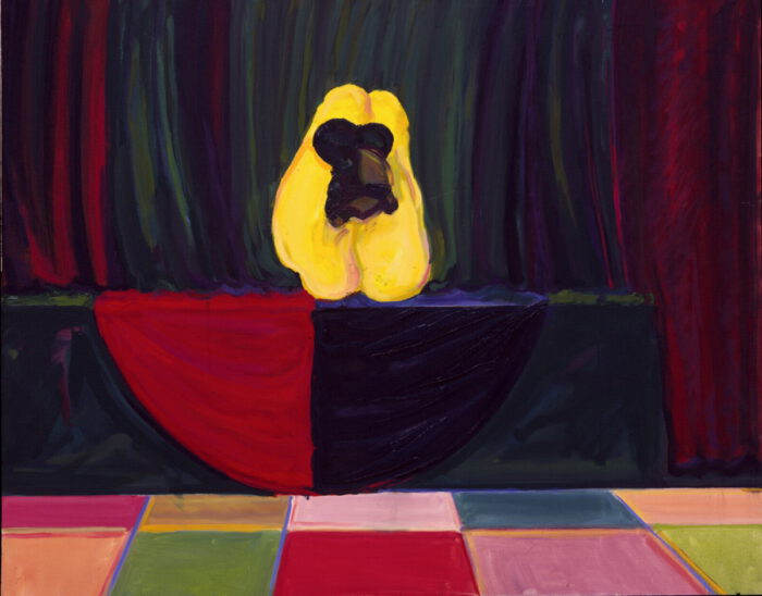 1978 03 14 Bühne Gelbe Frau Öl auf Leinwand 80x100 cm