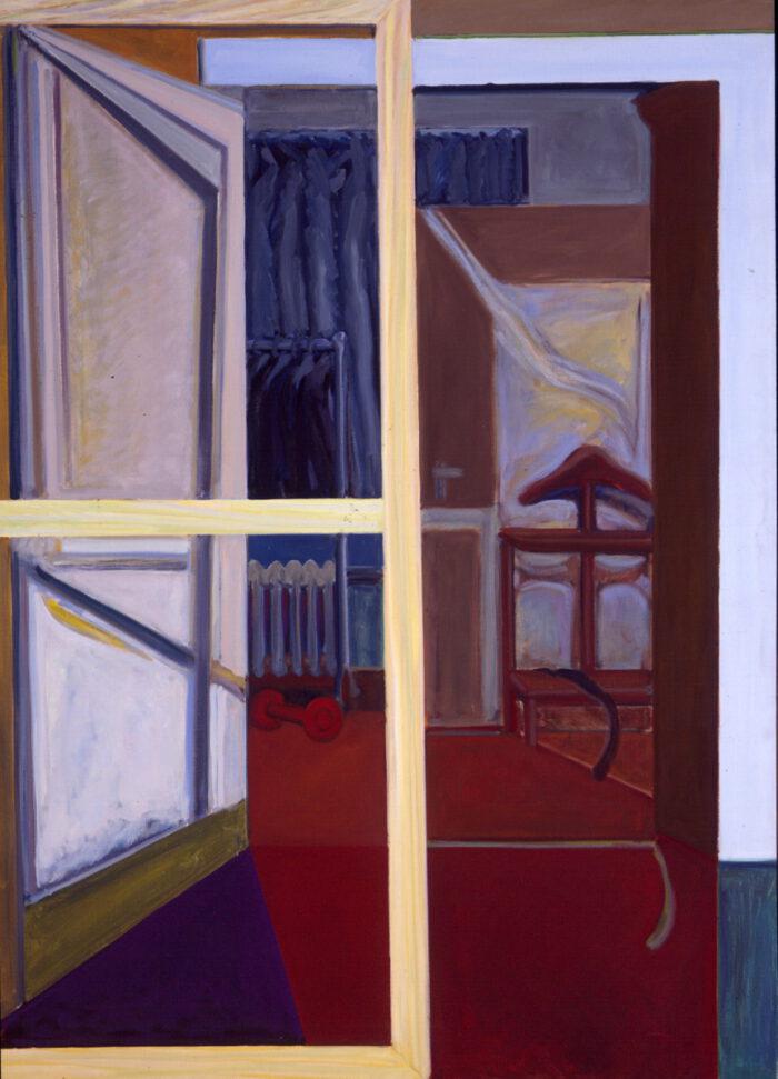 1978 05 03 o.T. Fensterblick Öl auf Leinwand 50x36 cm