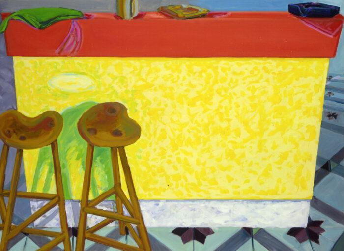 1978 06 03 Gelbe Bar Öl auf Leinwand 85x115 cm