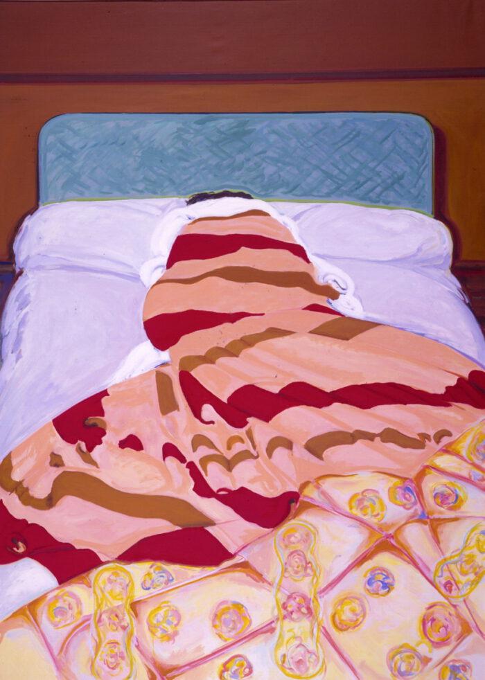 1978 13 02 Französisches Bett Öl auf Leinwand 250x160 cm