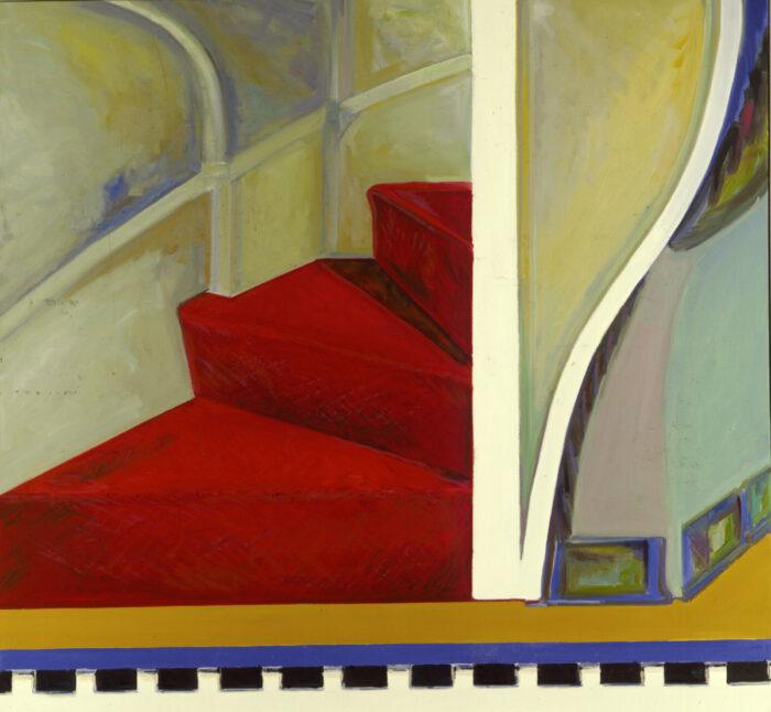 1978 24 01 Rote Treppe Öl auf Leinwand 160x200 cm