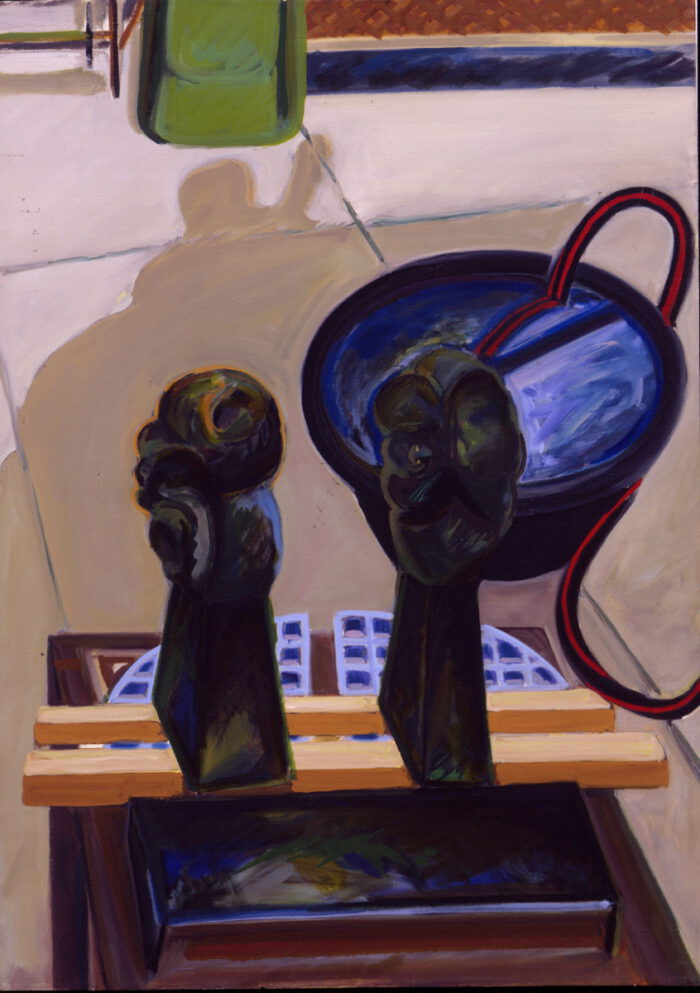 1978 26 01 2 Skulpturen Öl auf Leinwand 101x735 cm